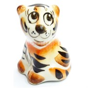 Фигурка Хантер цветная гжель тигр Символ 2022 года