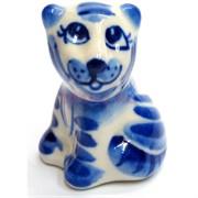 Фигурка Хантер синяя гжель тигр Символ 2022 года