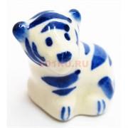 Фигурка Семечки синяя гжель (1) Тигр Символ 2022 года
