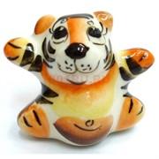 Фигурка Малыш цветная гжель Тигр Символ 2022 года