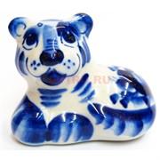 Фигурка Якут гжель синяя Тигр Символ 2022 года