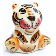 Фигурка Ваня гжель цветная Тигр Символ 2022 года
