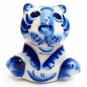 Фигурка Ваня гжель синяя Тигр Символ 2022 года