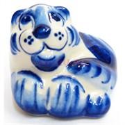 Фигурка Крепыш гжель синяя Тигр Символ 2022 года