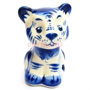 Фигурка Яшка (5) гжель синяя Тигр Символ 2022 года