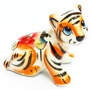 Фигурка Алтай (11-A) гжель цветная Тигр Символ 2022 года