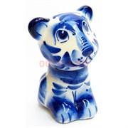Фигурка Амур синяя гжель (14) Тигр Символ 2022 года