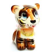 Фигурка Амур цветная гжель (14) Тигр Символ 2022 года