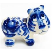Фигурка Мульт гжель (6) синяя Тигр Символ 2022 года