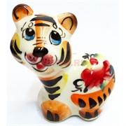 Фигурка Смелый гжель цветная Тигр Символ 2022 года