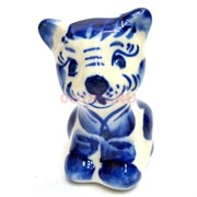 Фигурка Сема гжель синяя Тигр Символ 2022 года