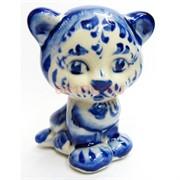 Фигурка Лея (3) гжель синяя Тигр Символ 2022 года
