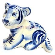 Фигурка Лорд гжель синяя Тигр Символ 2022 года