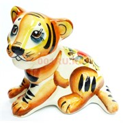 Фигурка Лорд гжель цветная Тигр Символ 2022 года
