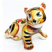 Фигурка Гарик цветная гжель Тигр Символ 2022 года