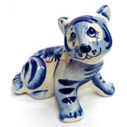 Фигурка Гарик синяя гжель Тигр Символ 2022 года