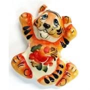 Магнит гжель цветная Тигр Символ 2022 года