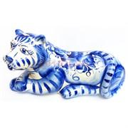 Фигурка Арно гжель синяя Тигр Символ 2022 года