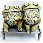 Фигурка лягушата сидящие (KN-00-44) из шамота