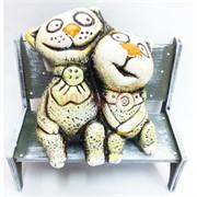 Фигурка Коты сидящие (KN-00-41) из шамота