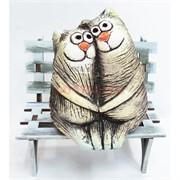 Фигурка Коты обнимающиеся из шамота