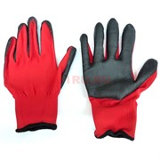 Перчатки рабочие прокрашенные красные №15