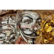 Маска Гай Фокс пластмассовая под серебро 400 шт/кор