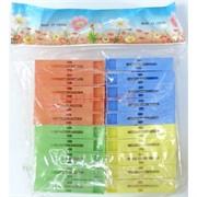 Прищепки цветные (054) пластмассовые 20 шт/уп 144 набора/кор