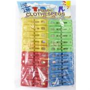 Прищепки цветные (1018) пластмассовые 20 шт/уп  240 наборов/кор