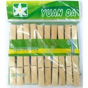 Прищепки цветные деревянные 20 шт/уп 240 наборов/кор