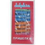 Прищепки пластмассовые dolphin 24 шт/уп 288 уп/кор