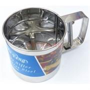 Кружка-сито для муки из нержавеющей стали 12 см 72 шт/кор