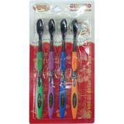 Зубные щетки бамбуковые GUANBO 4 шт/уп 200 шт/кор