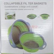 Дуршлаг силиконовый (JM-611) складной Collapsible ter baskets 72 шт/кор