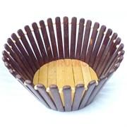 Корзинка деревянная хлебница 20 см 100 шт/кор