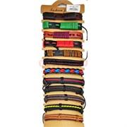 Браслет кожаный цветной (BR-1425) разные виды 12 шт/уп