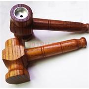 Трубка курительная «молоток» деревянная