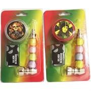 Трубка курительная «шарики» с гриндером и сеточками