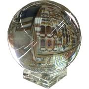 Шар стеклянный 8 см с подставкой (1 качество)