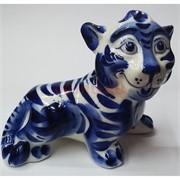 Фигурка Симба (42) гжель синяя Тигр Символ 2022 года