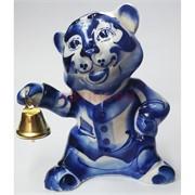 Фигурка Колокольчик (43С) гжель синяя Тигр Символ 2022 года