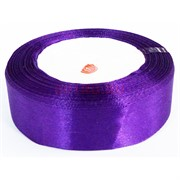 Лента 20 мм атласная фиолетовая 10 шт/уп