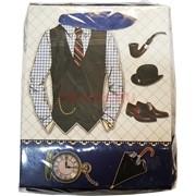 Пакеты плотные подарочные мужские 12x15 см 20 шт/упаковка