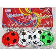 Брелок футбольный мяч (KL-1110) светоотражающий цветной 120 шт/блок