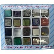 Камни кубики 25 мм натуральные и синтетические 20 шт/уп