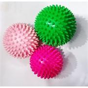 Мячики тактильные шуршики 65 мм цвета в ассортименте