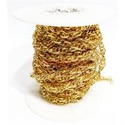 Цепь металлическая (L2006270055) под золото (цена за 1 метр)