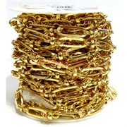 Цепь металлическая (2006240095) под золото (цена за 1 метр)