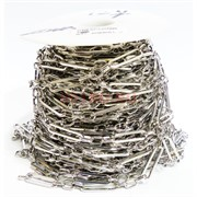 Цепь металлическая (221998) под серебро (цена за 1 метр)