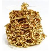 Цепь металлическая (L221570) под золото (цена за 1 метр)